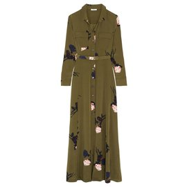 Ganni-Dresses-Olive green