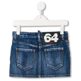 Dsquared2-Gonna Denim Bambino Dsquared2  14 anni-Blau