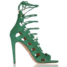 Aquazzura-Sandals-Green