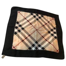 Burberry-Silk scarves-Beige
