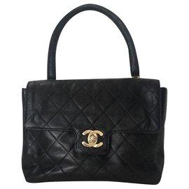 Chanel-Poignée supérieure classique intemporelle Coco-Noir