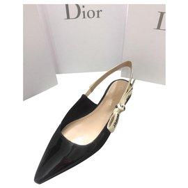 Dior-Ballerine dior J'adior ballets plats neufs-Noir
