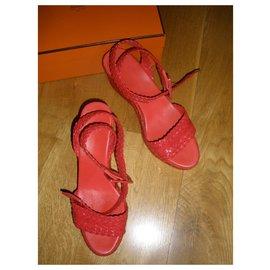 Hermès-Espadrilles-Rouge