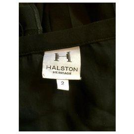 Halston Heritage-Plisse skirt-Black