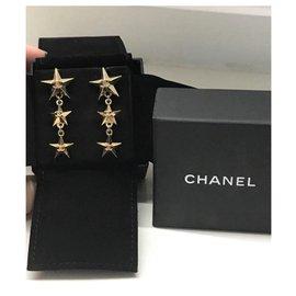 Chanel-Chanel star earrings-Golden