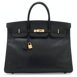 Hermès-Saco preto Hermès Birkin muito bonito 40, Couro das Ardenas, Colecionador-Preto