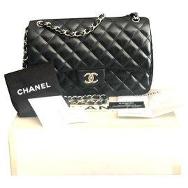 Chanel-Chanel Jumbo classic lined flap bag-Black