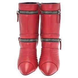 Giuseppe Zanotti-Giuseppe Zanotti red biker boots-Red