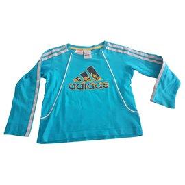 Adidas-tee-shirt manches longues Adidas-Bleu