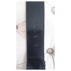 Yves Saint Laurent-Yves Saint Laurent wide belt, left bank-Black