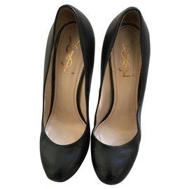 Yves Saint Laurent-Ysl shoes-Black