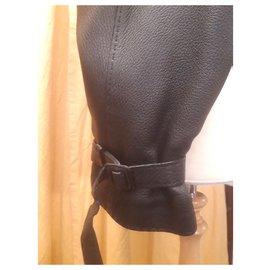 Hermès-HERMES perfecto leather jacket-Black