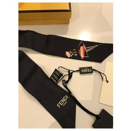 Fendi-Silk scarves-Black