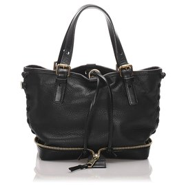 Chloé-Chloe Black Leather Ellen-Black