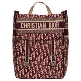 Christian Dior-Mochila Christian Dior em monograma oblíquo bordô, Nova Condição-Bordeaux