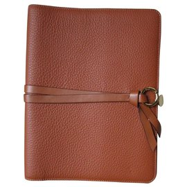 Chloé-Calendar cover, Camel leather.-Caramel
