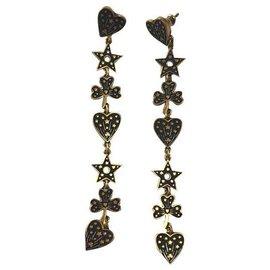 Christian Dior-Brincos C.Dior Neuves-Bronze