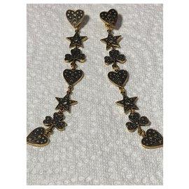 Christian Dior-C Earrings.Dior Neuves-Bronze