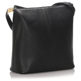 Burberry-Burberry Black Leather Crossbody Bag-Black