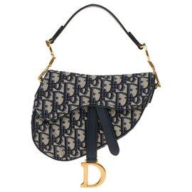 Christian Dior-Christian Dior Mini Saddle bag in blue oblique Dior canvas, new condition-Blue