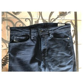 Diesel-Pants-Navy blue