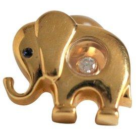 Chopard-elephant pins-Golden