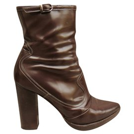 Mulberry-Jonathan Kelsey for Mulberry p boots 39-Chocolate