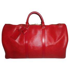 Louis Vuitton-KEEPALL-Rouge