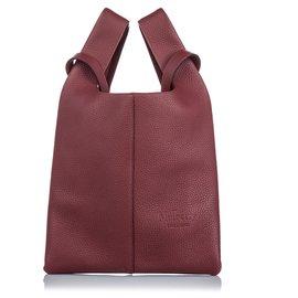 Mulberry-Mulberry Red Leather Portobello Tote-Red
