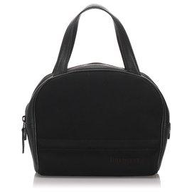 Burberry-Burberry Black Leather Handbag-Black