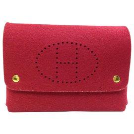 Hermès-Hermès Vintage Pouch-Red