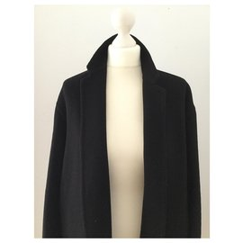 Céline-Coats, Outerwear-Black