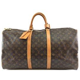 Louis Vuitton-Louis Vuitton Keepall 55 Toile monogramme-Marron