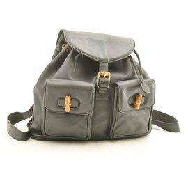Gucci-Gucci Bamboo Backpack Diamante-Black