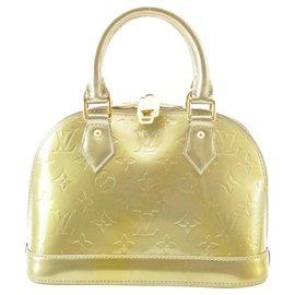 Louis Vuitton-Louis Vuitton Vernis Alma BB-Dourado
