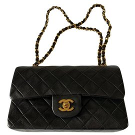 Chanel-Chanel Timeless double flap bag-Black