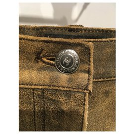 Chanel-Jeans-Brown,Blue