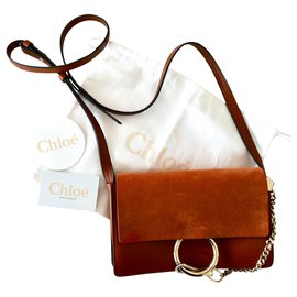 Chloé-small faye tobacco bag-Brown