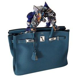 Hermès-Birkin 35-Blue
