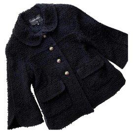 Chanel-2018 Pre-Spring tweed jacket-Black