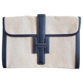 Hermès-H-Beige,Dark blue