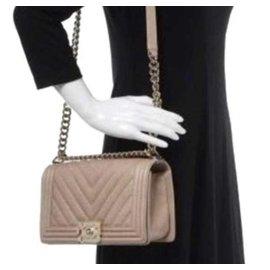 Chanel-Boy bag-Beige