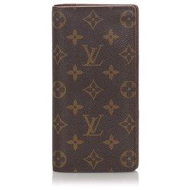 Louis Vuitton-Louis Vuitton Brown Portefeuille Brazza Wallet-Brown