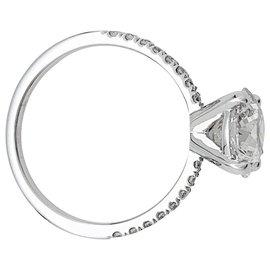 inconnue-Bague solitaire en or blanc, diamant 2,05 carats.-Autre