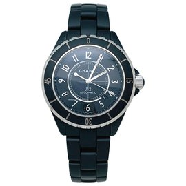 Chanel-Chanel J watch12 Intense Black in steel and black ceramic, automatic.-Other
