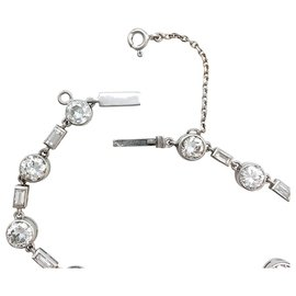 inconnue-Bracelet en platine, or blanc et diamants.-Autre