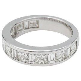 inconnue-Alliance demi-tour diamants en or blanc.-Autre
