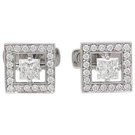"""Boucheron-Boutons de manchette Boucheron,""""Ava"""", or blanc et diamants.-Autre"""