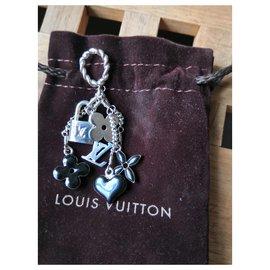 Louis Vuitton-Très beau pendentif Louis vuitton-Noir,Argenté