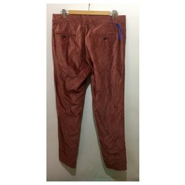 Versace-Velvet trousers, IT 50, fr 46, DE 44, US M-Brown,Pink